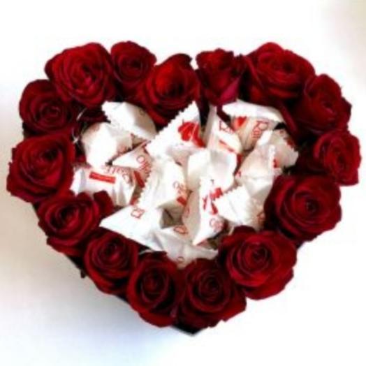 """Цветы в коробке """"Для неё"""""""