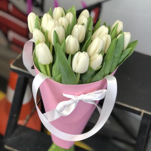 21 тюльпан в конусе микс 0019