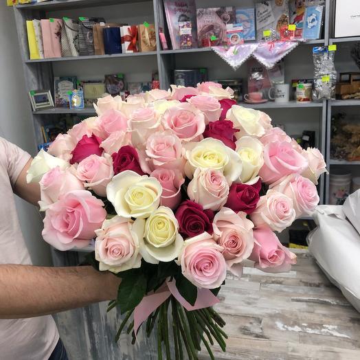 51 Роза нежный микс