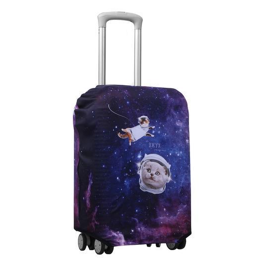 Чехол для чемодана «Космос и котик», 50 × 50 см