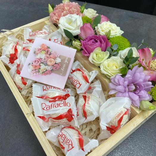 Набор подарочный «Цветы + Raffaello»