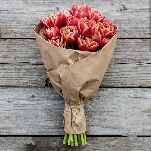 Пионовидные тюльпаны  Каламбус в крафте