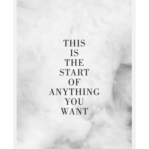 """Постер """"THIS IS THE START"""""""