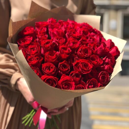 Букет Красных роз Victoria