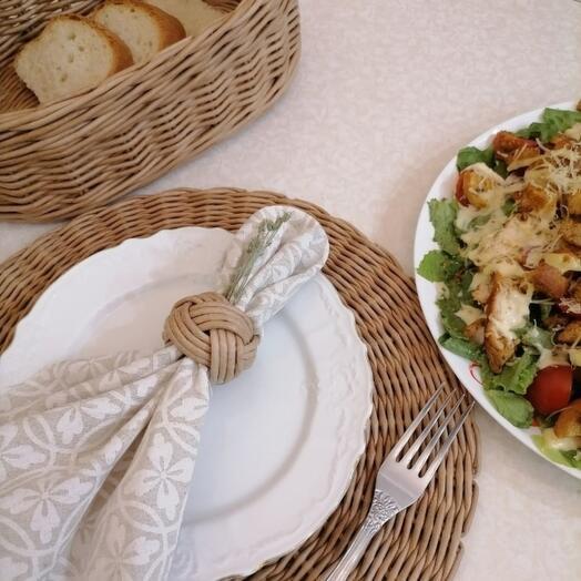 Кухонные наборы: плетёный набор для сервировки стола