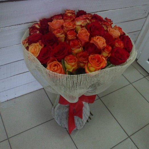 Букет Огненный: букеты цветов на заказ Flowwow