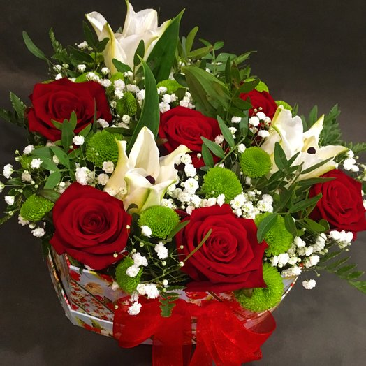 "Коробочка сердцем ""Любимой"": букеты цветов на заказ Flowwow"