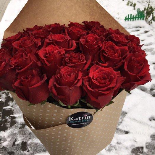 25 роз Премиум класса : букеты цветов на заказ Flowwow