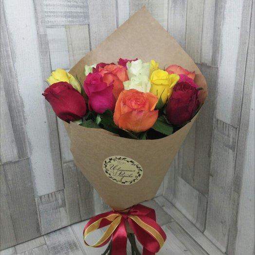 11 роз ассорти: букеты цветов на заказ Flowwow