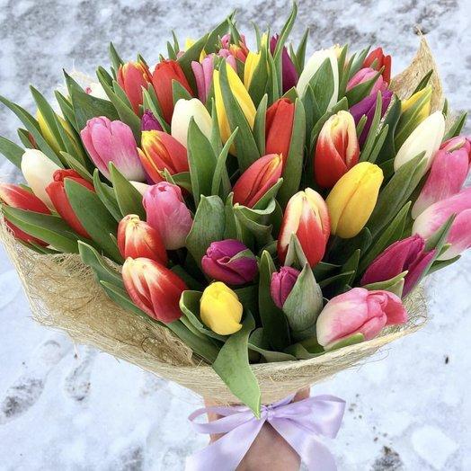 Пестрый «День Святого Валентина»: букеты цветов на заказ Flowwow
