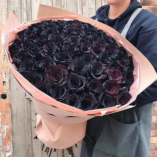 Чёрные розы: букеты цветов на заказ Flowwow
