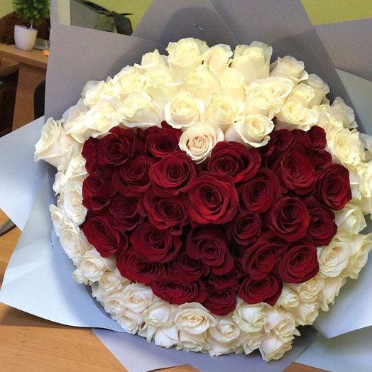 101 эквадорская роза : букеты цветов на заказ Flowwow