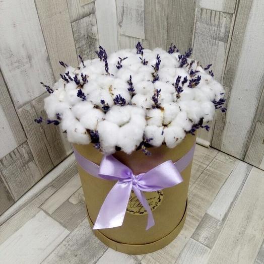 Коробка с хлопком: букеты цветов на заказ Flowwow
