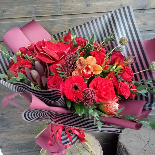 Букет Страсть ): букеты цветов на заказ Flowwow