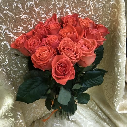 Розы Вау (17шт.50см): букеты цветов на заказ Flowwow
