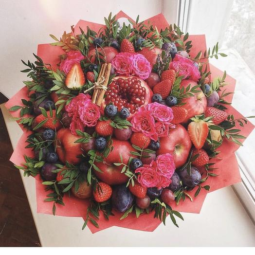 Фруктовый букетик «Зенаб»: букеты цветов на заказ Flowwow