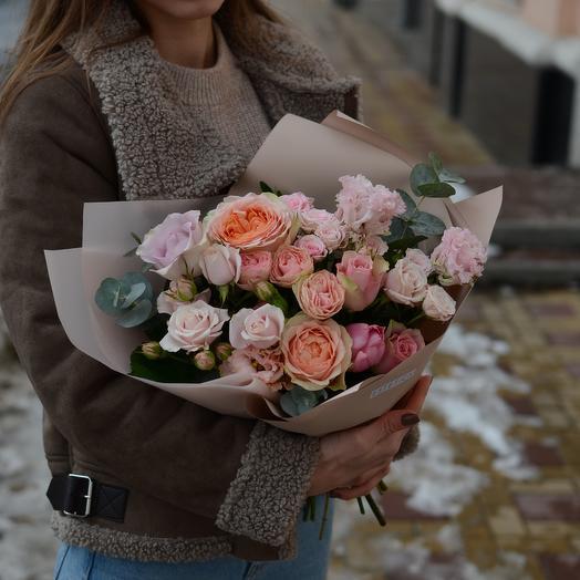 Букет персиковая нежность: букеты цветов на заказ Flowwow
