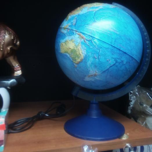 """Глобус физико- политический рельефный """"Классик Евро"""", диаметр 250мм, с подсветкой: букеты цветов на заказ Flowwow"""