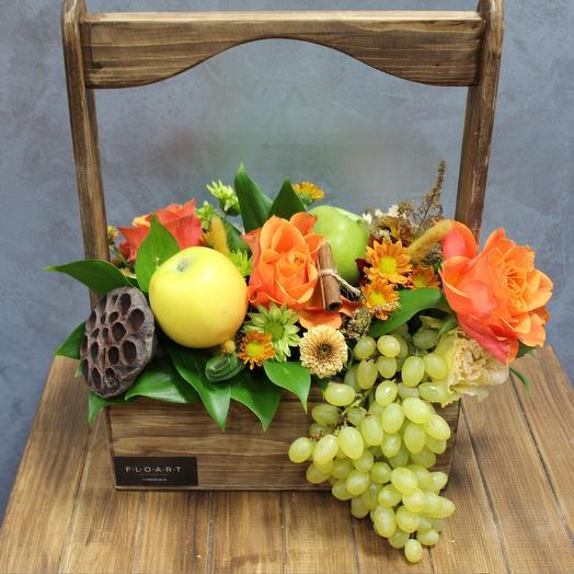 Вкусный ящик фруктов