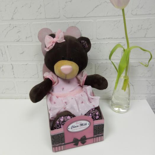 Мишка Milk: букеты цветов на заказ Flowwow