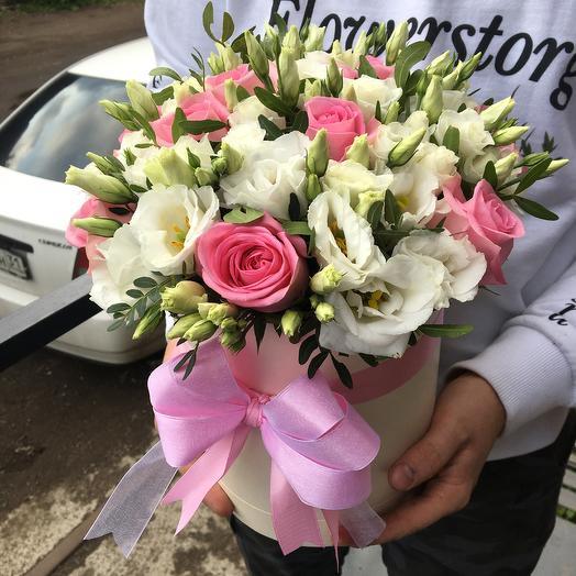 Коробочка из роз и экстом: букеты цветов на заказ Flowwow