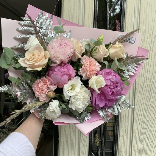 Пионовый пломбир: букеты цветов на заказ Flowwow