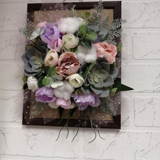 Панно на стену: букеты цветов на заказ Flowwow