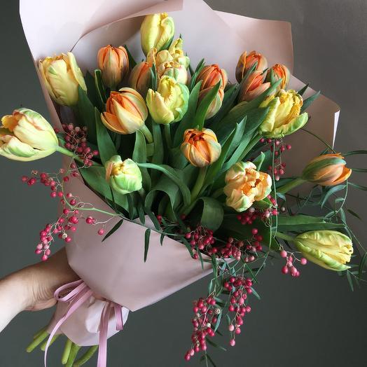 Тюльпаны с перчинкой: букеты цветов на заказ Flowwow