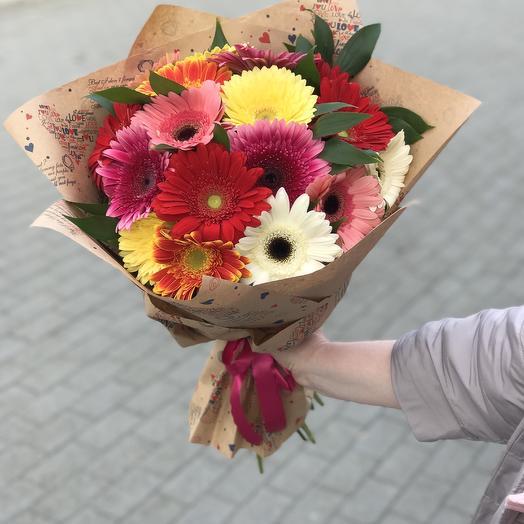 25 гербер: букеты цветов на заказ Flowwow