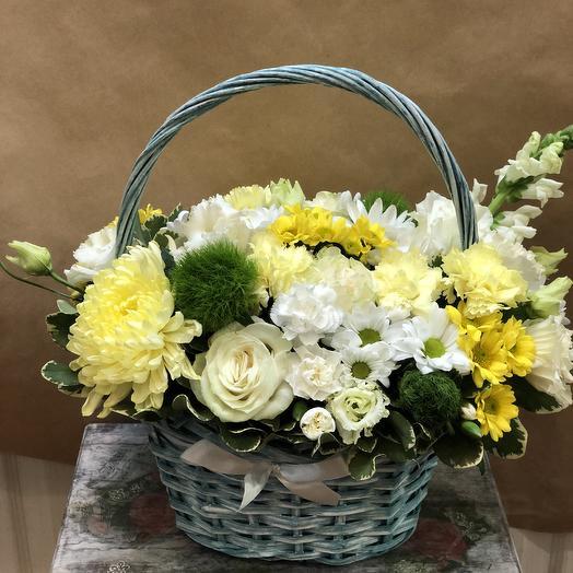 Корзина Солнышко: букеты цветов на заказ Flowwow