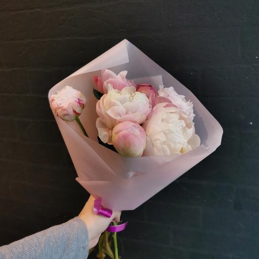 Пионы микс: букеты цветов на заказ Flowwow