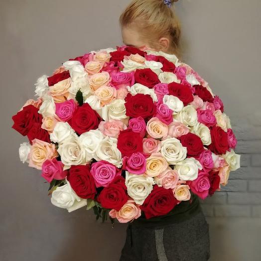 Малиново- розовый микс: букеты цветов на заказ Flowwow