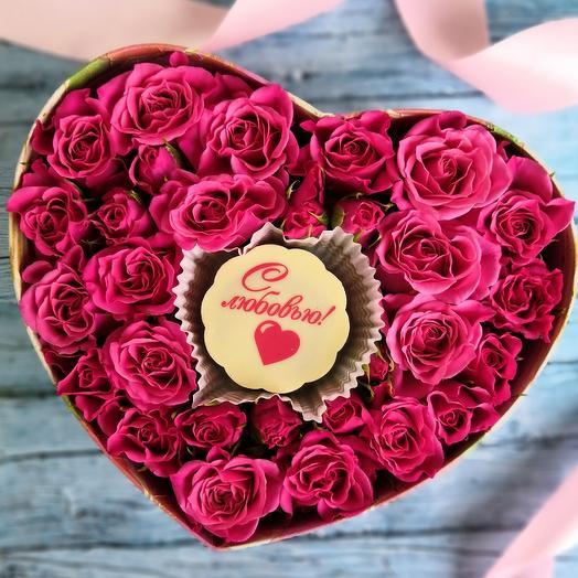 Бельгийский шоколад в сердце для любимой