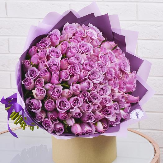 Букет  Сиреневая Роза