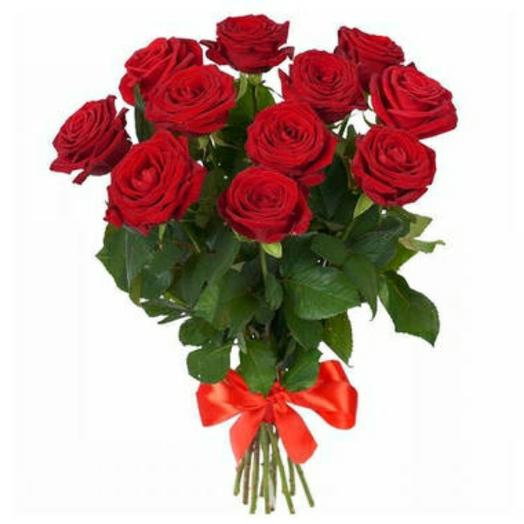 Красная Российская роза: букеты цветов на заказ Flowwow