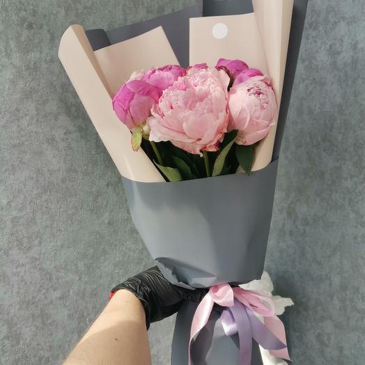 Букет из 13 пионов: букеты цветов на заказ Flowwow