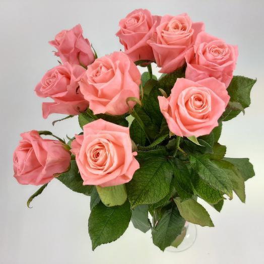 Коралловые одногололовые розы 60см