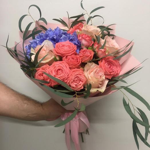 Букет Розовое Счастье: букеты цветов на заказ Flowwow