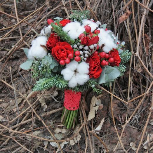 Букет невесты Зимнее утро