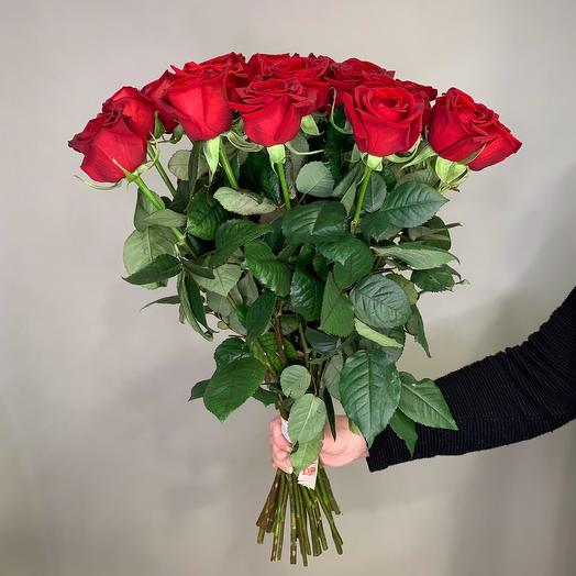 15 red roses 70 cm
