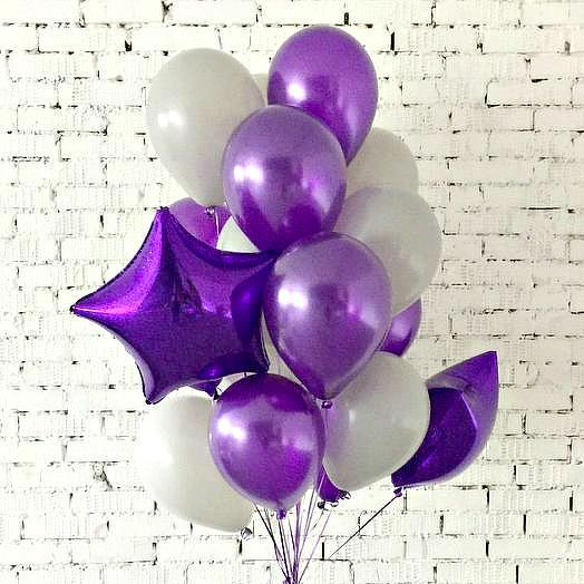 Букет воздушных шаров Фиолетовая феерия