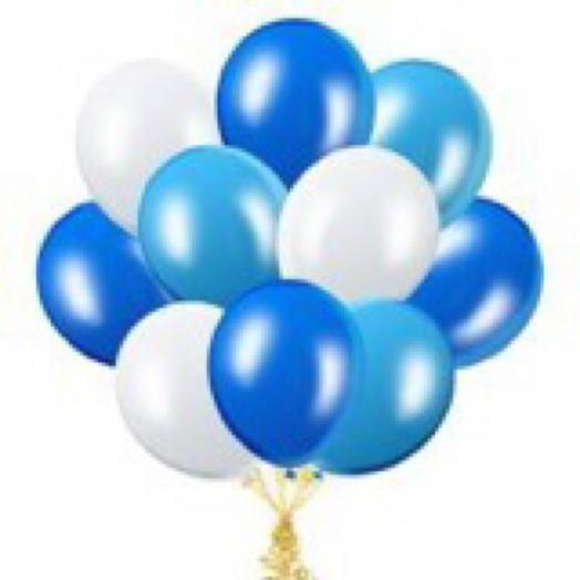 Синий микс шаров с гелием