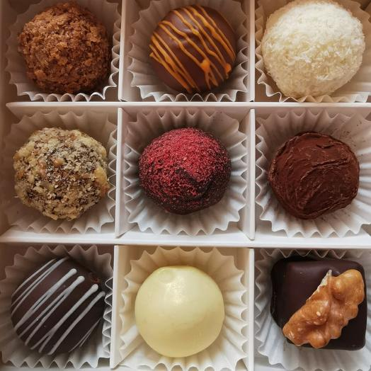 Cheese truffles (sweets), assorted from 9 flavors