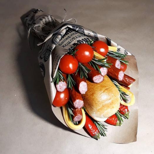 Букет колбасный с помидорами черри