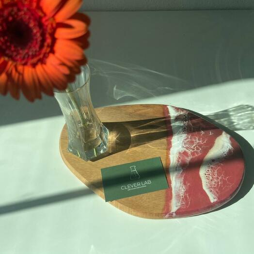 Сервировочная доска «Красный мрамор»