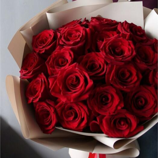 Букет 21 красна роза
