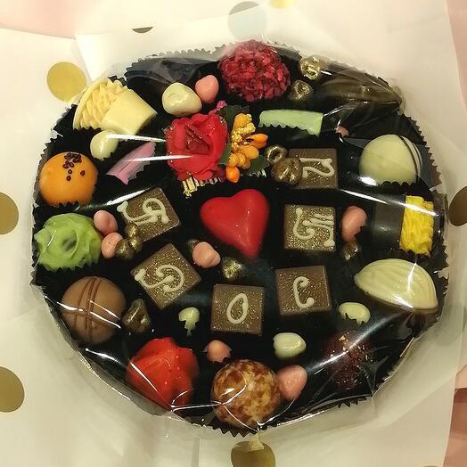 Букет из конфет ручной работы FRENCH KISS SPB 060601 Прости