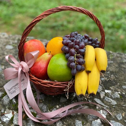 Корзина с фруктами мини