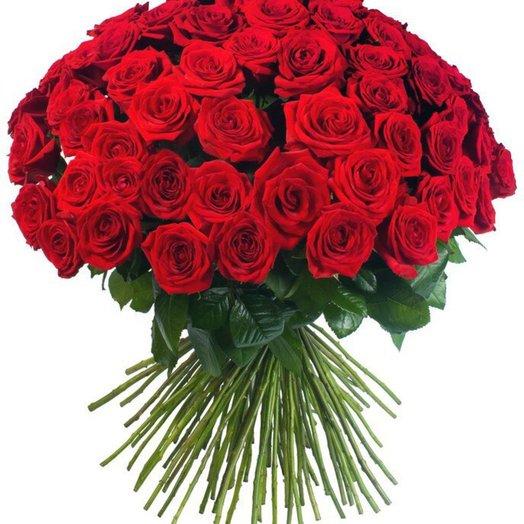 Букет №5 101 Красная роза: букеты цветов на заказ Flowwow