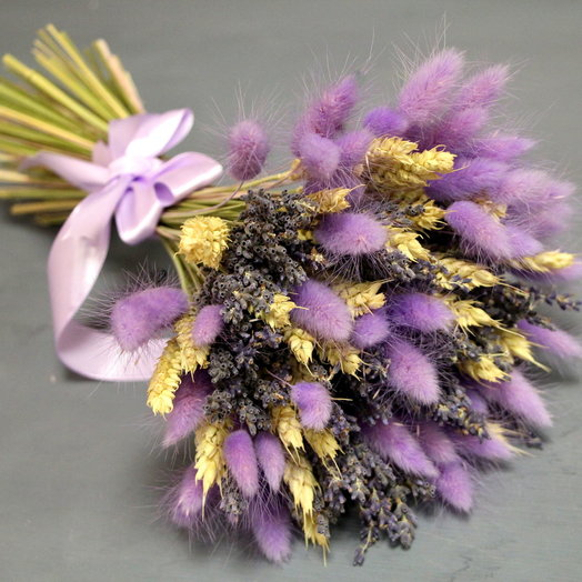 Букет из сухоцветов для мамы «Сиреневые сны»: букеты цветов на заказ Flowwow